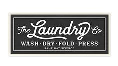 Stupell Home Dcor Vintage Laundry Sign Cursive Typography Wall Plaque Art 7 x 05 x 17 Proudly Made in USA >>> Continue to the product at the image link.