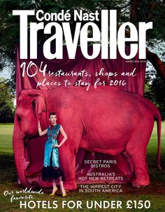 Valerija Kelava by Kristian Schuller for Conde Nast Traveller UK March 2016 cover - Gucci Spring 2016