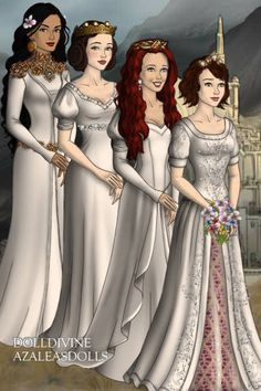 Disney royal wedding ~ by ladywanda ~ created using the LotR Hobbit doll maker | DollDivine.com