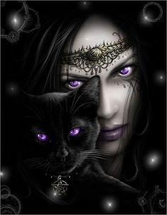 poster tissu gothique cat's eyes - Boutique Gothique Romantique Gothyka