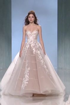 """Galia Lahav """"Alma"""" Gorgeous Embroidered Lavender Strapless Sweetheart A-Lane Princess Wedding Dress / Bridal Gown with a Train. Collection """"Victorian Affinity"""" by Galia Lahav Wedding Dress Trends, Dream Wedding Dresses, Bridal Dresses, Lavender Wedding Dress, Lavender Gown, Boho Wedding, Ball Dresses, Evening Dresses, Prom Dresses"""