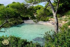 Cala Mitjana, easily reached walking from our hotels. Inturotels hotels & Resort.    www.inturotel.com