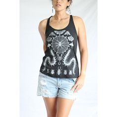 Entomology Insect Tank Top Deaths Head Moth Luna Moth Scorpion... ($23) ❤ liked on Polyvore featuring tops, silver, tanks, women's clothing, racer back tank, racer back tank top, butterfly print top, checkered top and racerback tops