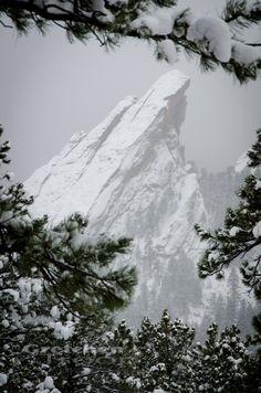Boulder Flatirons in Snow by Gretchen Troop, via 500px