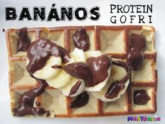Banános protein gofri | MásTészta Fitt, Healthy Breakfasts, Waffles, Protein, Paleo, Snacks, Eat Clean Breakfast, Beach Wrap, Waffle