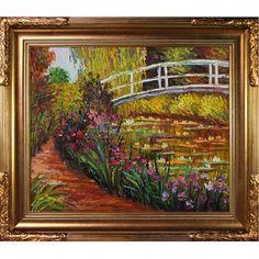 14b27be0d00 Fleur De Lis Living  The Japanese Bridge  by Claude Monet Framed Painting  Print