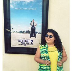 """Photo: Raini Rodriguez Standing Next To A """"Paul Blart: Mall Cop Poster February 2015 Disney Stars, Disney Fun, Paul Blart Mall Cop, Raini Rodriguez, Austin And Ally, She Movie, Young And Beautiful, Disney Channel, Stranger Things"""