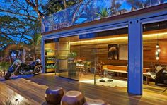 """Welcome to probably one of the most jaw-dropping tiny shipping container homes I have ever seen! The """"Pocket House"""" is a 320 square feet container home. Container Home Designs, Sea Container Homes, Container Architecture, Open Architecture, Steel Building Homes, Metal Building Kits, Building A House, House Inside, Tiny House"""