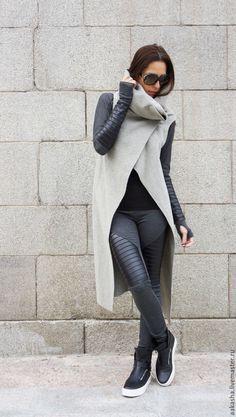 Купить Кашемировое пальто Light Grey Guess - серый, пальто из шерсти, жилет из шерсти