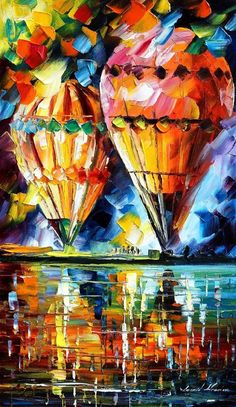 Balloons - Leonid Afremov by *Leonidafremov on deviantART