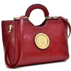 Dasein Loop Handle Leatherette Shoulder Bag - Overstock™ Shopping - Great Deals on Dasein Shoulder Bags