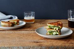 Grilled Brie Sandwiches with Honey, Pistachio, and Kale Pesto Recipe on Food52, a recipe on Food52