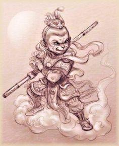 http://dao-fengshui.eu/podujatie/opici-kral/ Opičí kráľ (Sun Wukong) je obľúbená postava daoistického aj buddhistického panteónu, ktorá je u nás známa vďaka románu Cesta na západ čínskeho spisovateľa Wu Cheng-ena zo 16. storočia.