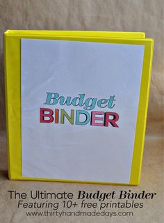 The Ultimate Budget Binder featuring 10+ printables from www.thirtyhandmadedays.com Amazing ideas to simplify your budget. Personal Finance Tips,Finance Tips, Personal Finance