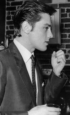 """""""In the 50s all the young ladies could not take their eyes away from him, handsome as a god and that wicked charm."""" François Perrault about Alain Delon"""