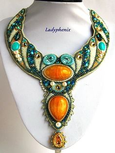 Ladyphenix is the name of two talanted Russian beadwork artists mother and daughter Irina and Anastasia Stepanko.