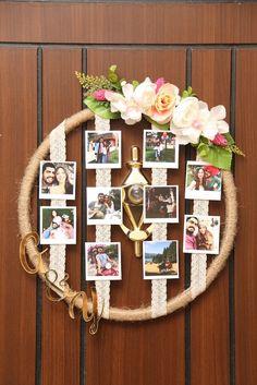 Diy Crafts For Gifts, Diy Home Crafts, Diy Arts And Crafts, Photo Frame Crafts, Picture Frame Decor, Disney Home Decor, Diy Birthday, Diy Wall Decor, Diy For Kids
