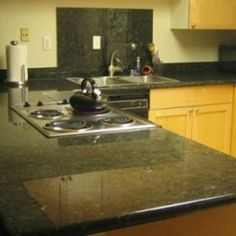 Delicieux Dark Green Kitchen Countertops   Kitchen Color Google Search Green Kitchen  Countertops, Granite Backsplash,
