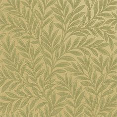 Printed on a backdrop of golden ringlets, this Aesthetic Movement inspired Victorian wallpaper brings to mind rays of sunlight penetrating a leafy canopy. Vintage Wallpaper Patterns, Victorian Wallpaper, Pattern Wallpaper, Vintage Wallpapers, William Morris, Vintage Photography Women, Victorian Interiors, Aesthetic Movement, Vintage Room