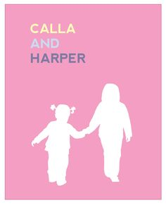 Great for Valentine's Day for grandparents gift!   CUSTOM SILHOUETTE 5x7 Fine Art Print, nursery or children's rooms, alice & lois design studios. $15.00, via Etsy.