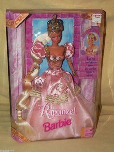 Barbie Doll Rapunzel Fairytale Mattel #17646 New Sealed 1997 Blonde Pink Dress