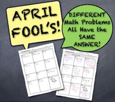 Do you have plans for your students on April Fool's Day? Check out this quiz (all the answers are the same!)