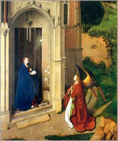 The Annunciation by Petrus Christus, ca. 1452.