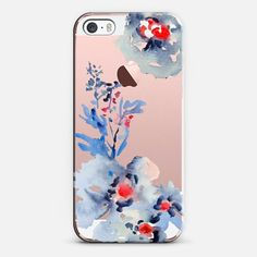 Casetify iPhone SE Classic Snap Case - Pretty Watercolor Florals by Pineapple Bay Studio