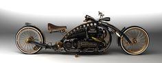 The Widowmak'r, Sherlock Holmes' motorbike in the novel Steampunk Holmes. Follow the link for more info.