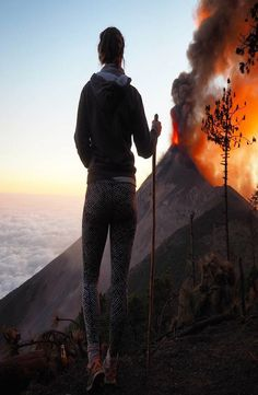 Volcán de Fuego is an one hour bus ride from Antigua, Guatemala. Hike up the of Volcano Acatenango to see the active Volcano Fuego erupting. Central America, North America, Active Volcano, Bus Ride, Backpacking, Hiking, Adventure, Pictures, Travel