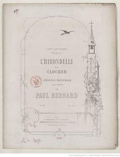 L'Hirondelle au clocher, rêverie pastorale pour piano. op. 33 | Gallica