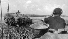 Panther tanks of 5. SS Panzer Division Wiking in Normandy.