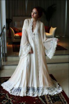 Mariée Robe soie Lingerie de mariée en mousseline de soie