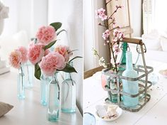 Vintage Wedding Centerpieces | Romantic Pink Blooms - The Sweetest Occasion — The Sweetest Occasion