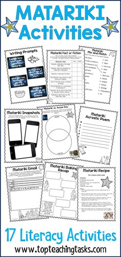 Let us save you time this Matariki and June with our New Zealand Matariki literacy activities. Perfect for the NZ (New Zealand) classroom. Features Matariki activities for kids. #Matariki #MatarikiActivities #MatarikiActivitiesforkids #MatarikiWriting #MatarikiLiteracy