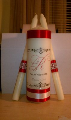Monogram Wedding Unity Candle set by FanciFlamegirl on Etsy, $28.75