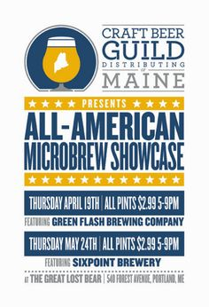 Postcard for Craft Beer Guild Distributing of Maine's All-American Microbrew Showcase