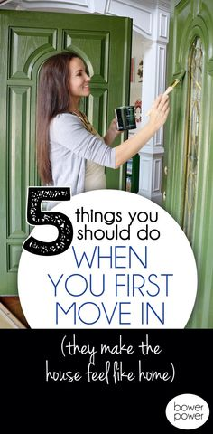 Five Things to do when moving into your dream home - Bower Power
