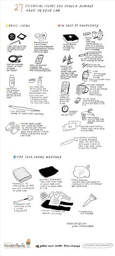 27 Essential Items You Should Always Have Inside Your Car « The Secret Yumiverse Life Hacks For School, Girl Life Hacks, Survival Tips, Survival Skills, Wilderness Survival, The More You Know, How To Know, Computer Shortcut Keys, Car Essentials
