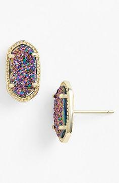 LOVE these Kendra Scott 'Ellie' Oval Stud Earrings from Nordstrom