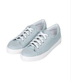Rain Check: Topshop Copenhagen lace-up blue sneakers