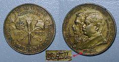 Moeda brasileira de 1000 réis de níquel comemorativa ao Centenário da Independência do Brasil com erro - BBASIL