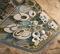 "Weston Williamson + Partners Win Competition to Design ""Science City"" in Prize: Zaha Hadid Architects. Image via Bibliotecha Alexandrina / International Architectural Competition of the Science City Landscape Architecture Drawing, Green Architecture, Chinese Architecture, Futuristic Architecture, Landscape Design, City Layout, Win Competitions, Zaha Hadid Architects, Parking Design"