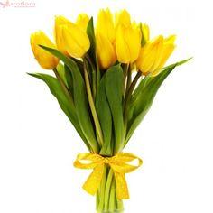 Golden Light - Buchet de lalele galbene Wedding Bouquets, Wedding Flowers, Send Flowers Online, Bouquet Delivery, Online Florist, Hand Bouquet, Daisy, Tulips, Bloom