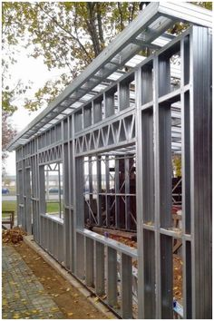 Steel Frame House, Steel House, Steel Structure Buildings, Metal Buildings, Metal Building Homes, Building A House, House Roof Design, Steel Frame Construction, Drywall
