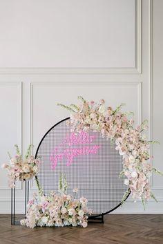 WedLuxe Magazine Crazy in Love Wedding Backdrop Design, Floral Backdrop, Wedding Props, Wedding Stage, Wedding Ceremony, Background Decoration, Backdrop Decorations, Backdrops, Wedding Decorations