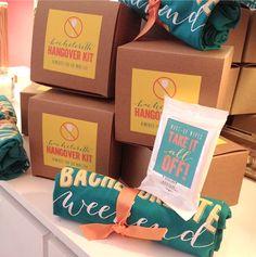 #Hangover kits and custom t-shirts for a Texas #bachelorette party #welcome bag I Custom by Nico and Lala