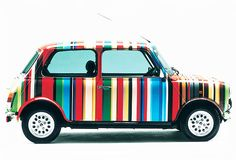 The Paul Smith brand story is simple, but compelling. A simple brand story helps you grow your brand and grow your business. Paul Smith, Classic Mini, Classic Cars, Minis, Cycle Shop, Mini Countryman, Brand Story, Car Wrap, Art Cars