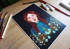 annie with an e illustration art print decor wall hanging poster Wall Art Prints, Fine Art Prints, Poster Prints, Original Paintings, Original Art, Hanging Posters, Annie, Illustration Art, Just For You