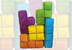 Turn your space into a giant puzzle game and play a live action version of your favorite game with the Tetris 3D Cushions! Set has 5 different Tetris shapes
